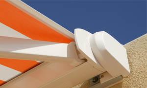 Сгъваеми сенници Athena MCA оранжев и бял материал 2
