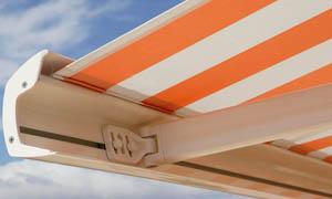 Сгъваеми сенници Athena MCA оранжев и бял материал 3