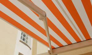 Сгъваеми сенници Athena MCA оранжев и бял материал 4