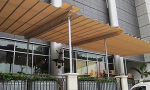 сгъваеми перголи VENUS MCA терасата на хотел 2