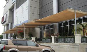 сгъваеми перголи VENUS MCA терасата на хотел 4
