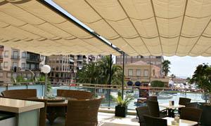 сгъваеми перголи VENUS MCA терасата на ресторант 8